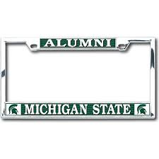 michigan state alumni license plate frame michigan