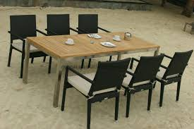 Teak Patio Furniture by Modern Teak Patio Table And Chairs 1 Image 2 Of 20 Electrohome Info