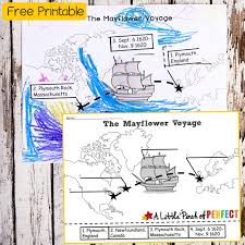 free map the mayflower voyage free printable map activity
