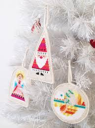 christmas ornaments set of six satsuma street modern cross