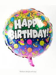 6 mylar balloons accented with colorful ribbon a weighted