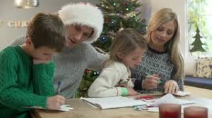 xmas card writing merry christmas with love stock video footage