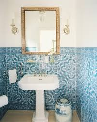 Bathroom Portraits Lonny U0027s Top Pins Of The Week Blue And White Bathrooms Design
