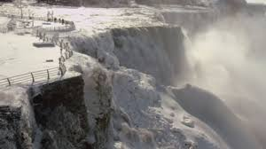 spectacular video frozen niagara falls