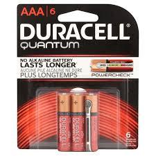 duracell quantum aaa alkaline batteries 6 count pack walmart com