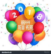 happy new year balloon 2018 happy new year illustration colorful stock vector 699820660
