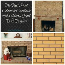best paint colours to update a yellow or tan toned brick fireplace