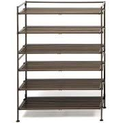 Shoe Rack by Seville Classics 3 Tier Iron Mesh Utility Shoe Rack Satin Pewter