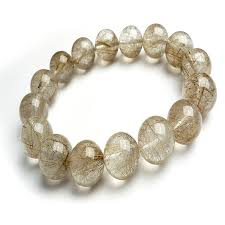 quartz crystal bracelet beads images 15mm genuine brazil natural silver hair needle rutilated quartz jpg