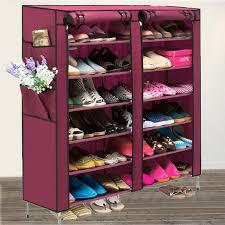 amazon com amdirect portable 6 layer 12 grid shoe rack shelf