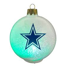 topperscot dallas cowboys nfl led color changing christmas ornament