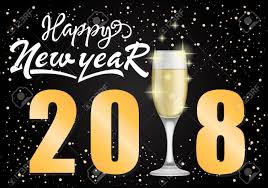 happy new year s greeting cards happy new year 2018 lettering new year day greeting card with