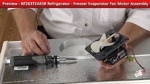 refrigerator evaporator fan replacement freezer evaporator fan motor assembly refrigerator