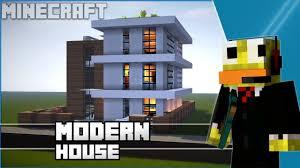 minecraft easy modern house modern town house tutorial
