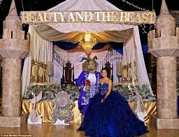 themed quinceanera has fairy tale beauty and the beast quinceañera daily mail
