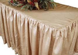 6 Foot Fitted Tablecloth 8 U0027 Banquet Ruffle Fitted Taffetatable Cover Skirt Rectangular