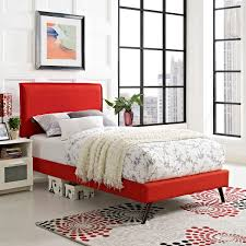 Fabric Platform Bed Camille Fabric Platform Bed With Splayed Legs Atomic