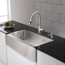 kraus farmhouse sink 33 stainless steel farmhouse kitchen sink popular faucet com khf200 36