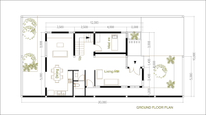 2 Bedroom Ground Floor Plan Sketchup Modern Home Plan Size 8x12m