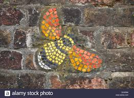 mural on brick wall stock photos mural on brick wall stock bee mural on a brick wall stock image