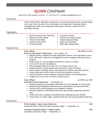 Security Guard Resume Example Resume To Become A Police Officer Free Resume Example And