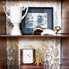 Stencils For Home Decor Ikat Stencilspattern Khanjali For Walls U0026 Furniture Stenciling