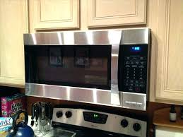 Microwave With Exhaust Hood Over The Range Microwave Fan Large Size