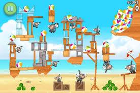 angry birds rio beach volley walkthrough level 30 6 15