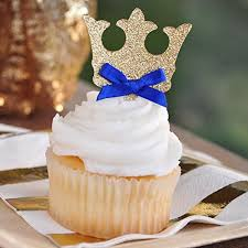 prince baby shower cakes crown cupcake toppers royal prince baby shower