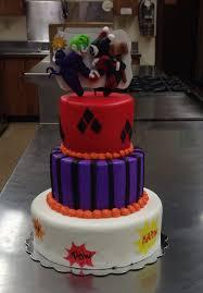 harley quinn u0026 joker themed wedding cake by custom cakes by emilie