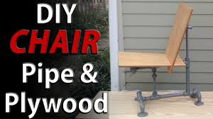 homemade modern diy chair steel pipes and plywood easy homemade modern chair