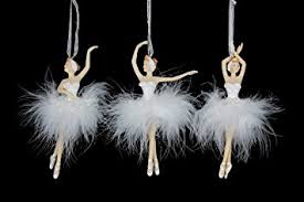 set of three heirloom swan lake ballerinas by gisela graham