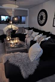Black Sofa Living Room Inspiring Best 25 Black Decor Ideas On Pinterest Sofa Living