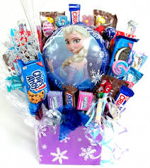 candy gift baskets frozen candy gift basket arrangement aa gifts baskets