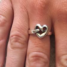 avery heart knot ring 25 avery jewelry avery sterling silver heart
