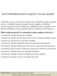 Sample Resume Of Engineer by Top 8 Embedded Systems Engineer Resume Samples 1 638 Jpg Cb U003d1431831954