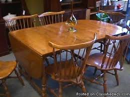 Maple Drop Leaf Table Maple Drop Leaf Table Chairs Ethan Allen Price 425 For Sale