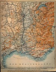 1914 World Map by Map Of South Eastern France 1914 Full Size