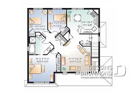 plan de maison en l avec 4 chambres maison et chalet avec 4 chambres plans dessins drummond