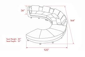 Sectional Sofa Dimensions by Curved Sectional Sofa From Opulent Items Ihso00534