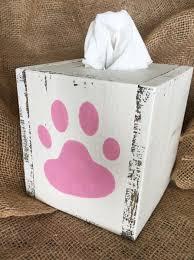 paw print tissue paper paw print tissue box cover 3driftsaway
