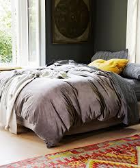 dark grey velvet quilt cover kip u0026 co bedding homeware
