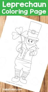 adorable leprechaun coloring page st patrick u0027s day free
