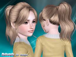 sims 3 hair custom content skysims hair child 161