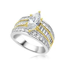wedding ring sizes accent rhodium plated sterling silver 2 carat marquise cz