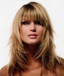 long straight hairstyles with blunt bangs for fine hair in dark
