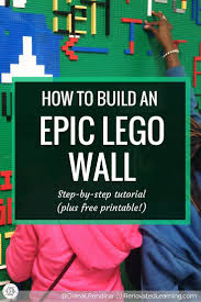 best 25 lego wall art ideas on pinterest boys lego bedroom diy how to build an epic lego wall follow along with this detailed tutorial to create