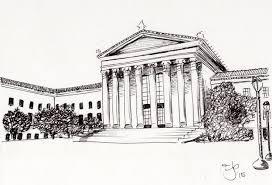 philadelphia museum of art philadelphia pa 5x7 pen u0026 ink