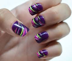 purple and silver nail designs 2 nails with additional