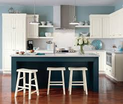 blue cabinets in kitchen alpine white cabinets homecrest cabinetry